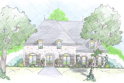 French-country Style Floor Plans Plan: 18-449