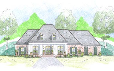 French-country Style House Plans Plan: 18-451