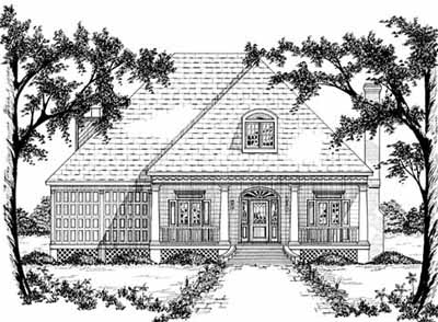 Country Style Home Design Plan: 18-452