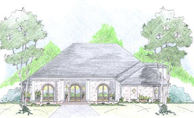 French-country Style Floor Plans Plan: 18-460