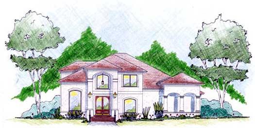Mediterranean Style House Plans Plan: 18-461