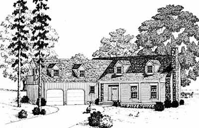 New-england-colonial Style Floor Plans Plan: 18-463