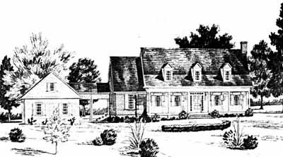New-england-colonial Style Floor Plans Plan: 18-464