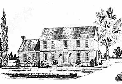 Early-american Style House Plans 18-465