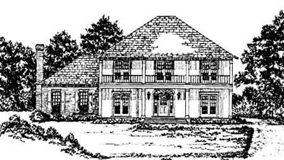 Plantation Style House Plans Plan: 18-466
