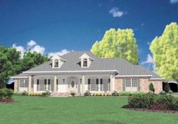 Southern Style Home Design Plan: 18-468
