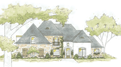 French-country Style House Plans Plan: 18-471