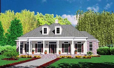 Southern Style Floor Plans Plan: 18-474