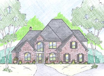 Traditional Style Home Design Plan: 18-475