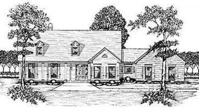 Country Style Floor Plans Plan: 18-477
