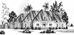 English-Country Style House Plans Plan: 18-480