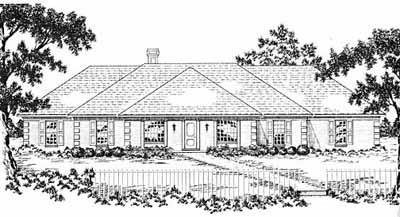 Ranch Style Floor Plans Plan: 18-481