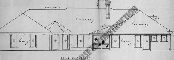 Rear Elevation Plan: 18-481
