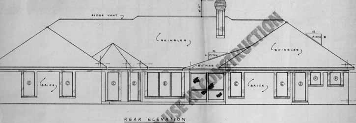 Rear Elevations Plan:18-481