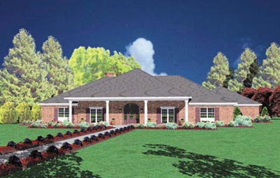Southern Style Home Design Plan: 18-482