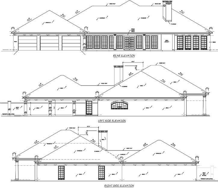 Rear Elevation Plan: 18-482