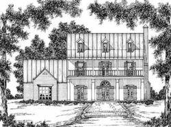 Plantation Style Home Design Plan: 18-484