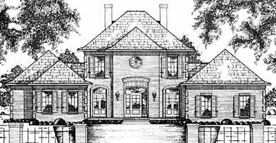 Georgian Style Floor Plans Plan: 18-485