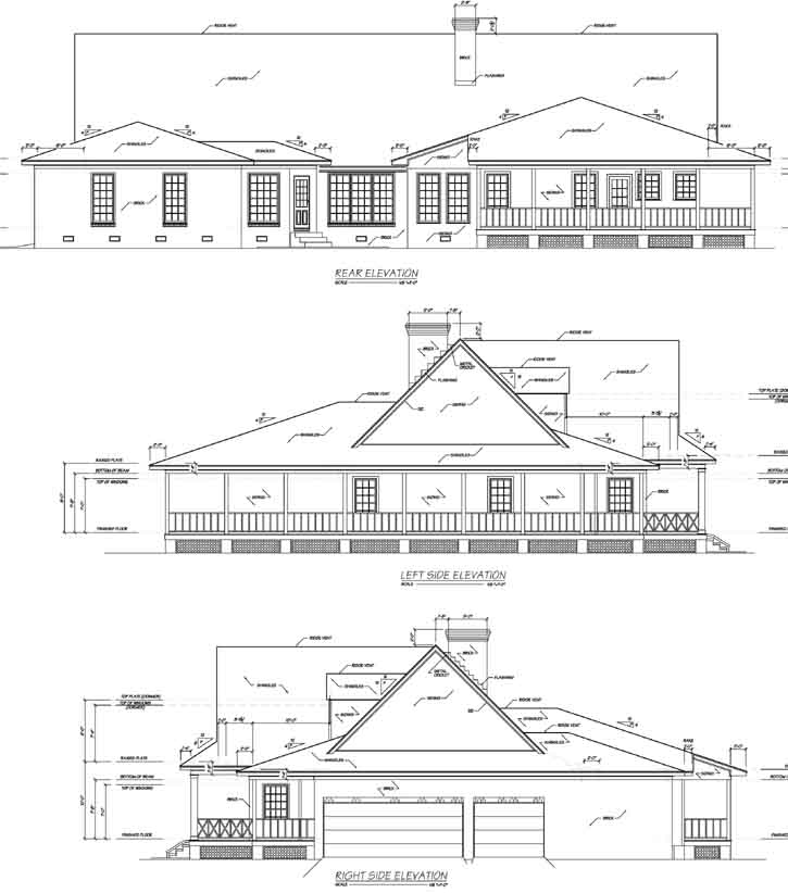 Rear Elevation Plan: 18-487