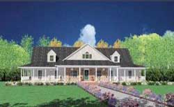 Farm Style Home Design Plan: 18-487