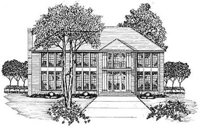 Plantation Style House Plans Plan: 18-490