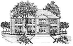 Plantation Style House Plans Plan: 18-490