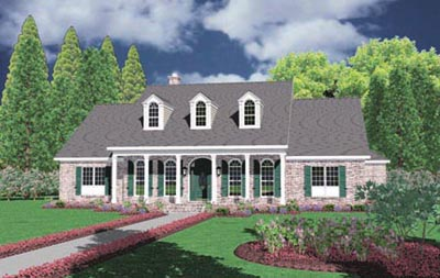 New-england-colonial Style Floor Plans Plan: 18-491