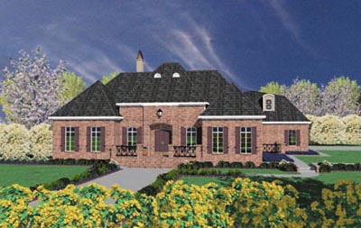English-country Style House Plans Plan: 18-492