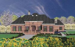 English-Country Style Home Design Plan: 18-492