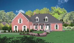 New-England-Colonial Style Home Design Plan: 18-493