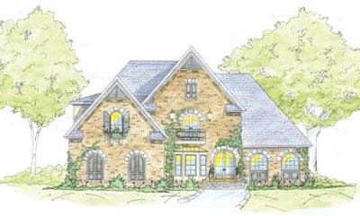English-country Style House Plans Plan: 18-494
