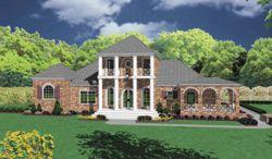 Plantation Style Floor Plans Plan: 18-496