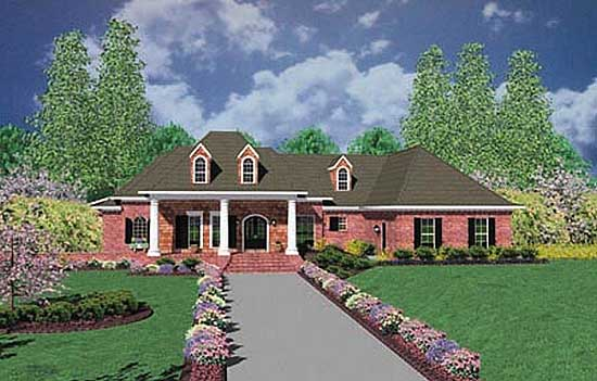 Country Style Home Design Plan: 18-497