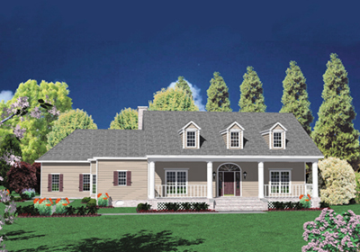 Country Style Floor Plans Plan: 18-499