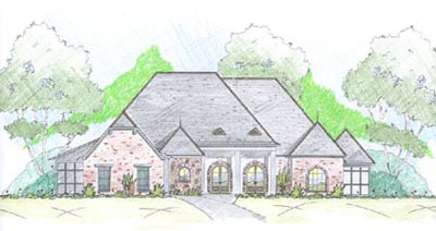 French-country Style Floor Plans Plan: 18-500