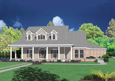 Country Style Floor Plans Plan: 18-501