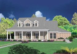 Country Style Home Design Plan: 18-501