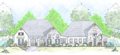 English-country Style Floor Plans Plan: 18-504