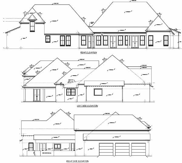 Rear Elevation Plan: 18-504