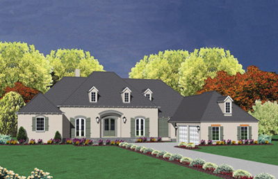 European Style House Plans Plan: 18-505
