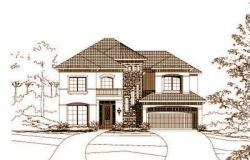Tuscan Style Home Design Plan: 19-1001