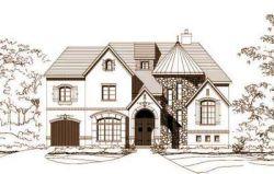 Tuscan Style Home Design Plan: 19-1029