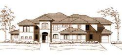 Mediterranean Style Home Design Plan: 19-103