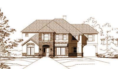 French-country Style House Plans Plan: 19-1032