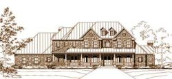 Country Style Home Design Plan: 19-1038