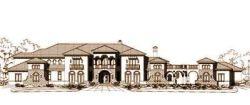 Mediterranean Style Home Design Plan: 19-1039