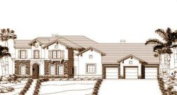 Tuscan Style Home Design Plan: 19-1046