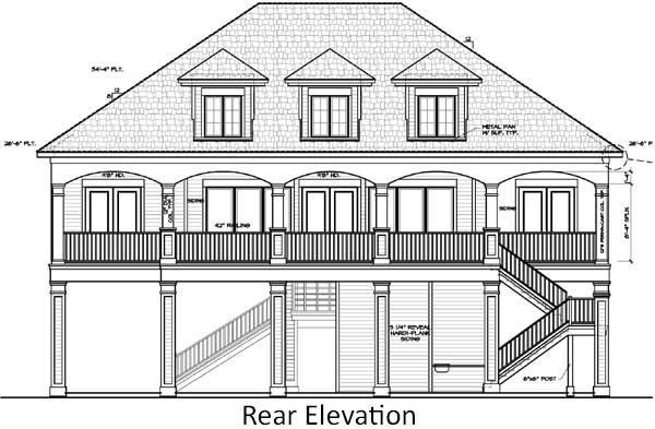 Rear Elevation Plan: 19-1047
