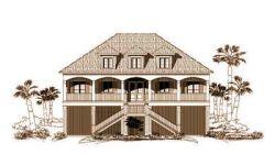 Coastal Style Home Design Plan: 19-1047
