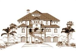 Florida Style Floor Plans Plan: 19-1049